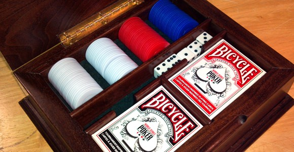 hand made poker set