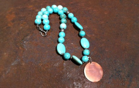 Copper & Turquoise Necklace