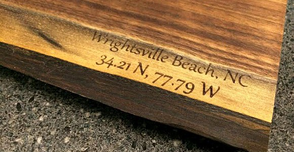 Wrightsville Beach Custom Laser Engraved Cutting Board