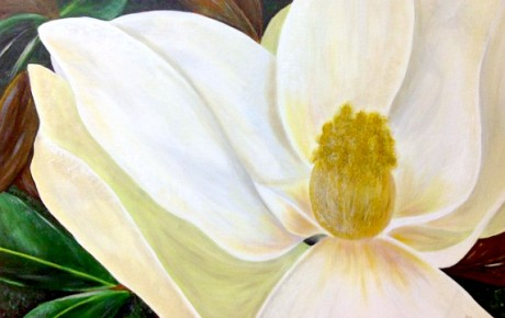 Art by Divine Inspiration Magnolia Painting