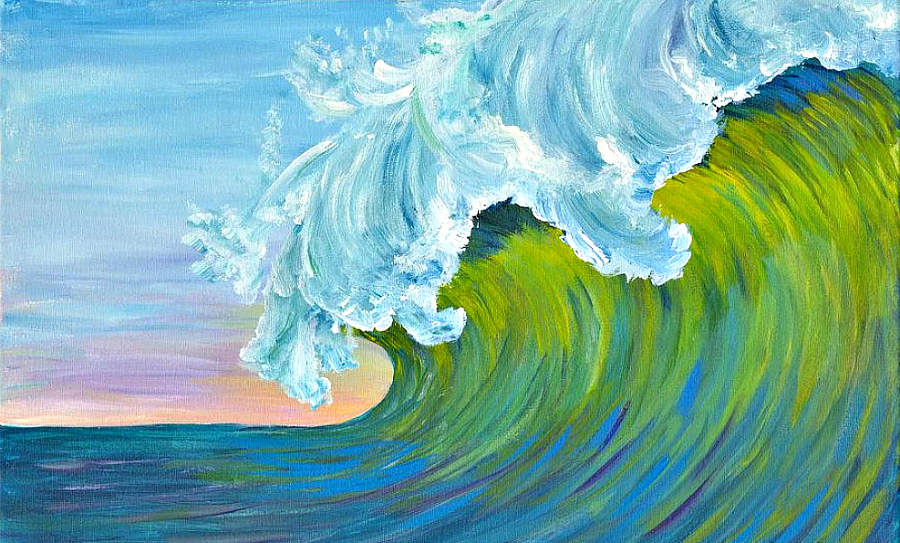 Island Girl Art wave painting