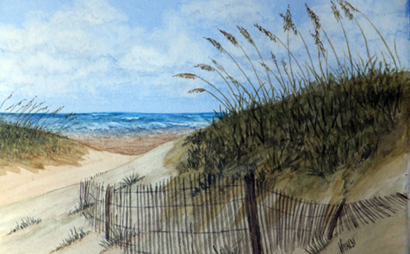 Carolina Beach To Wilmington Nc >> A M Vivaldi Watercolors - Blue Moon Gift Shops