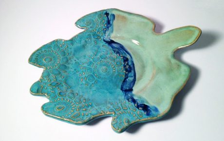 handcrafted turtle dish