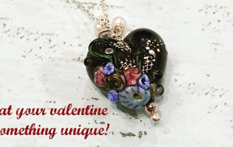 Marlene McDonald Glass Heart Necklace