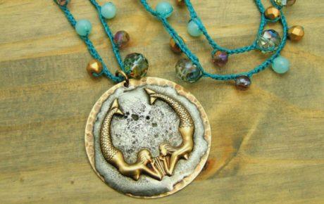 Patina Queen Mermaid Necklace